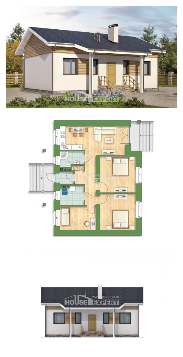 Проект дома 080-004-П   House Expert
